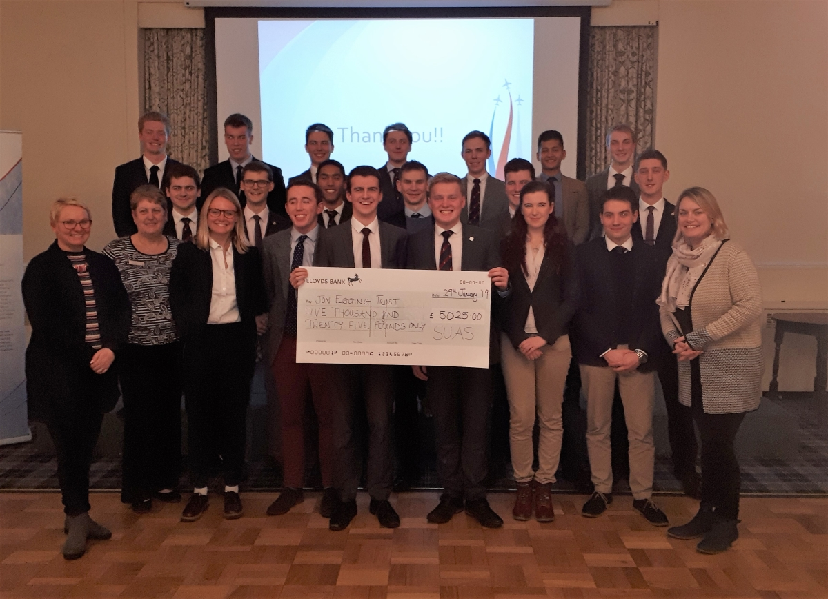 SUAS raises over £5,000 for JET in 2018