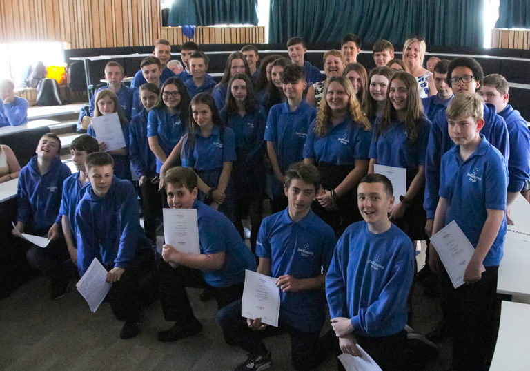 Graduation time for Blue Skies students in Dorset