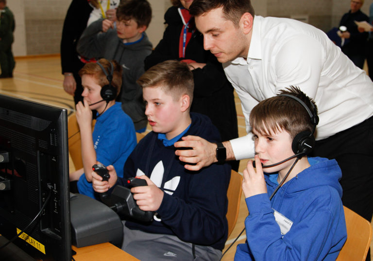 JET students learn how communication and teamwork keep the UK skies safe
