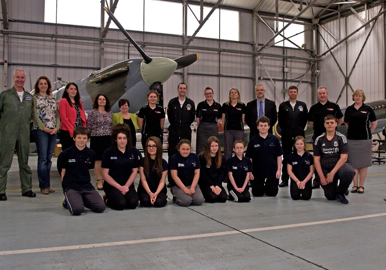Blue Skies students spend a day with the Battle of Britain Memorial Flight