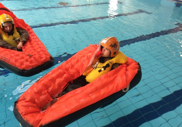 Blue Skies students learn the art of survival at local swimming pool