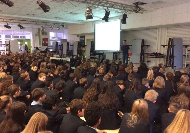 Neathered High School receives inspirational talk from JETLO