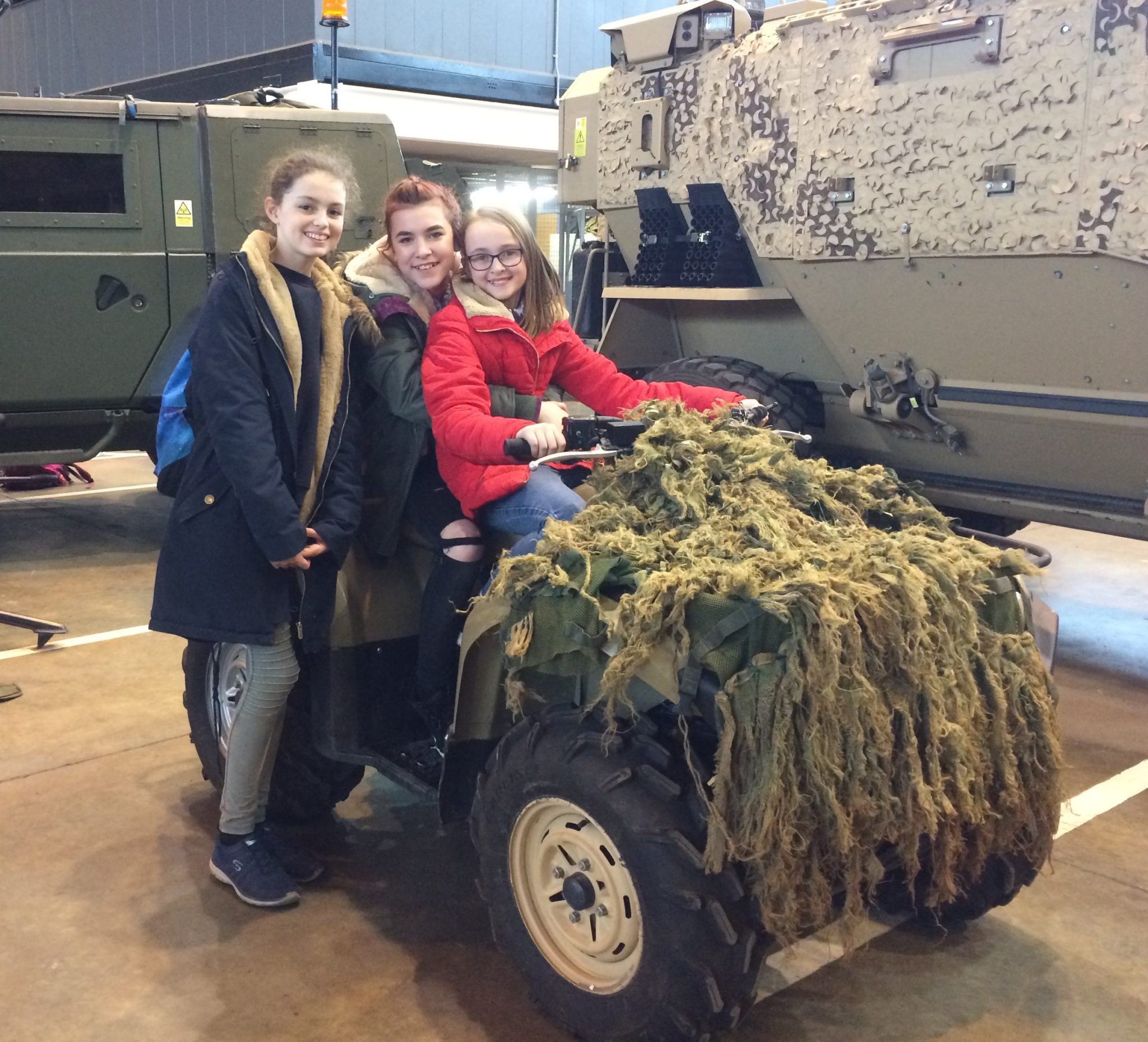 Students learn the capabilities of the RAF and vital teamwork skills
