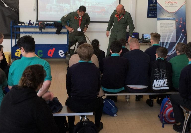 """Yes We Can! / Gallwn!"" project begins on a high with RAF pilots"