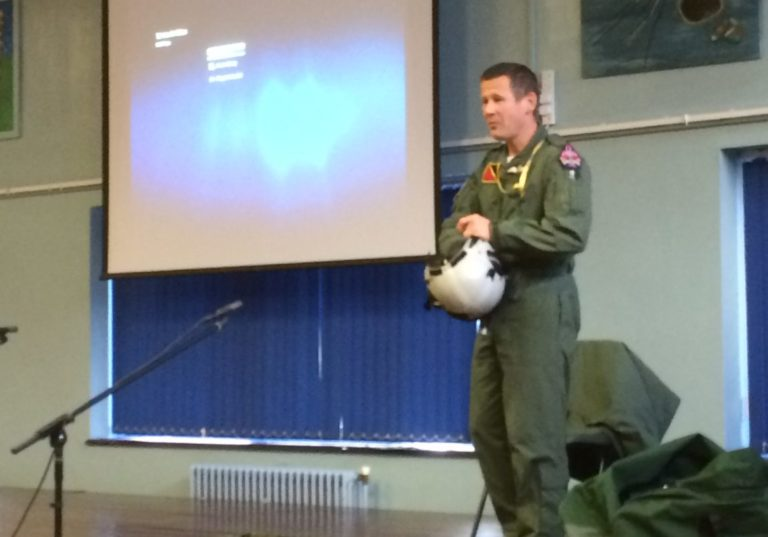 Students JET off on flight from RAF Valley in Assembly with pilot