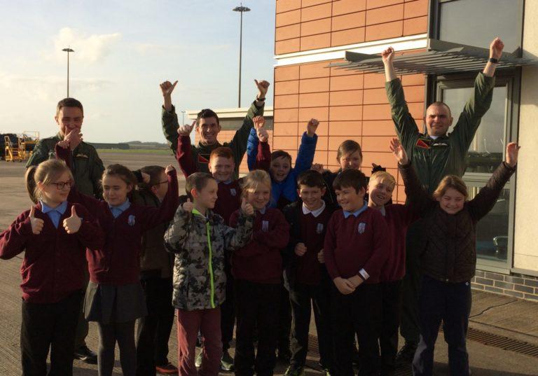 High flying Inspiration Day for Ysgol Llanfawr