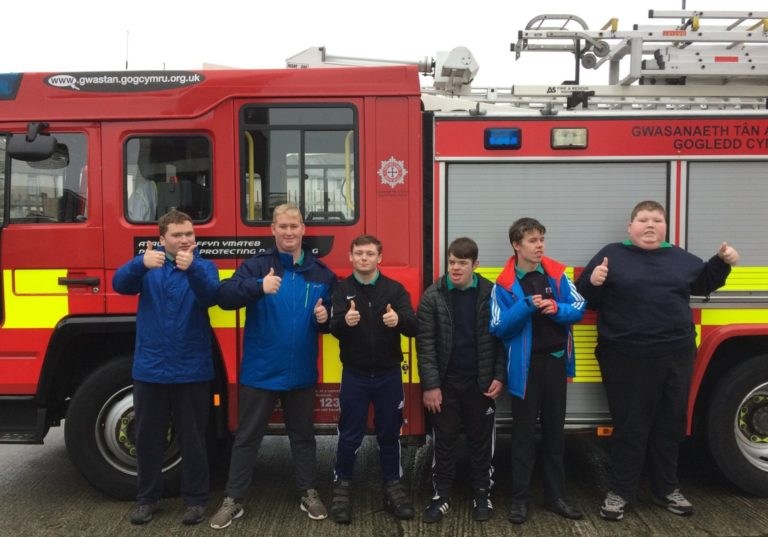 CAYB students visit Holyhead Fire Station
