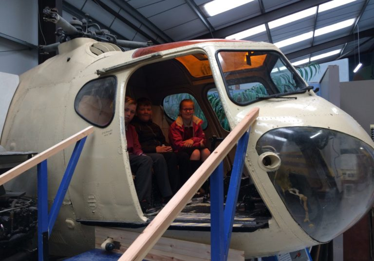 Pupils thrown back in time at Air World Museum