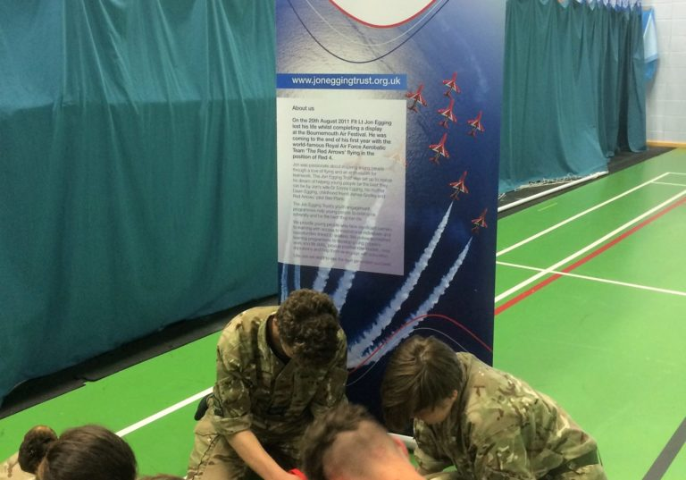 Air Cadets Thinking Outside of the Box!