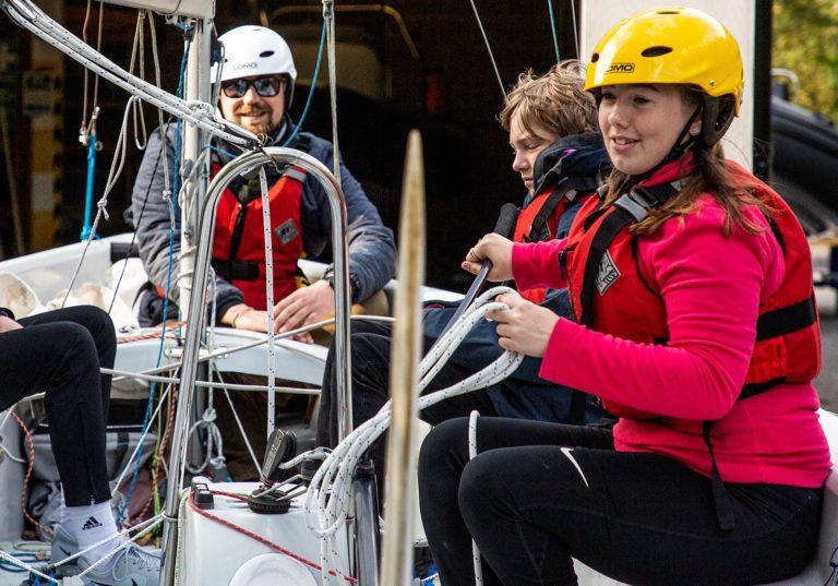 Sailing to Blue Skies from Ysgol Uwchradd Caergyb