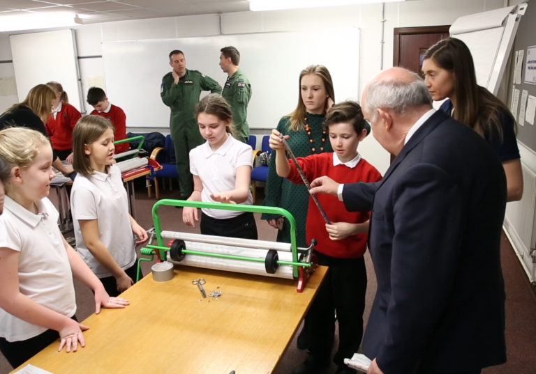 Westminster MP for Anglesey visits JET Students from Ysgol Y Tywyn on STEM day at RAF Valley