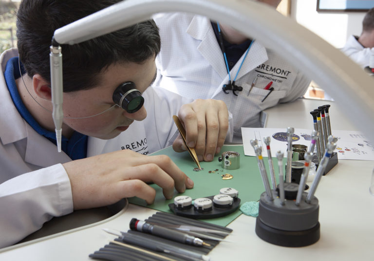 Bremont take time to inspire JET's Blue Skies 3 students