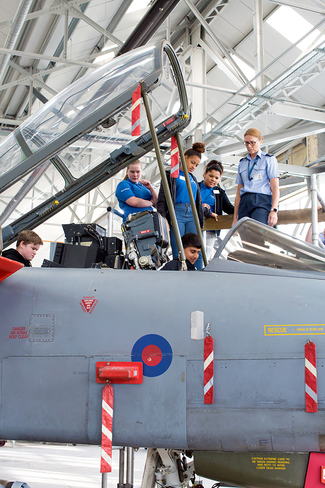 Blue Skies students from Charlton School experience what it is like to be a pilot in the RAF