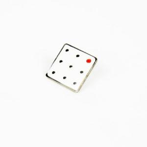 JET pin badge, white