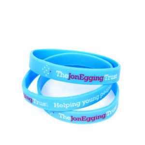 Jon Egging Trust wrist band - light blue