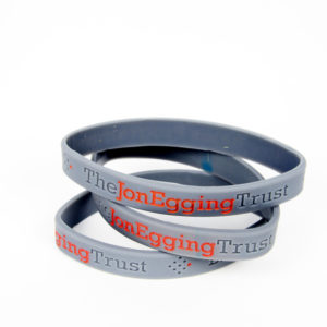 Jon Egging Trust wrist bands, grey