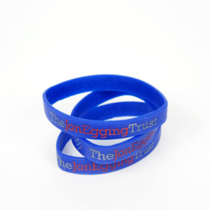 Jon Egging Trust wrist bands mid blue