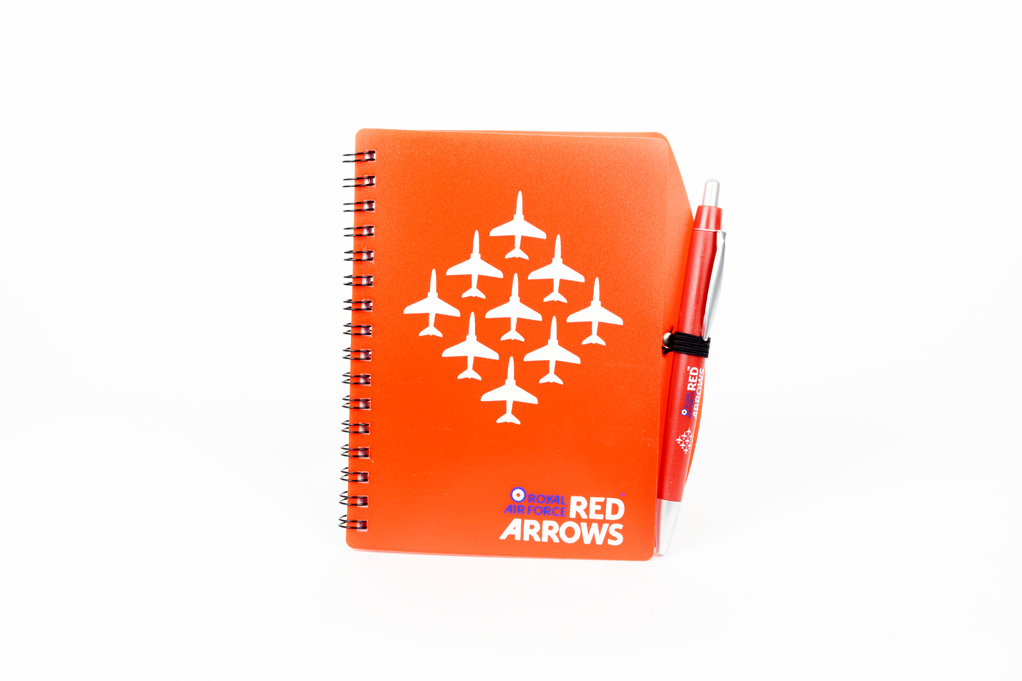Red Arrows note book and pen