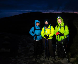 Snowdon by night to raise money for Jon Egging Trust