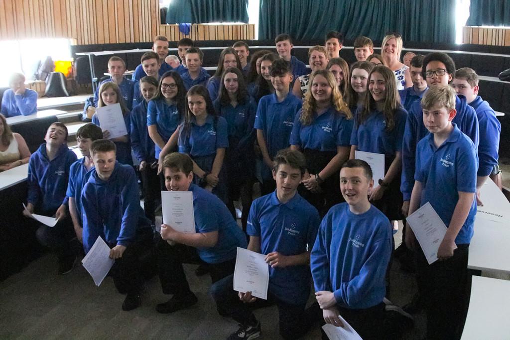 Graduation time for JET Dorset students