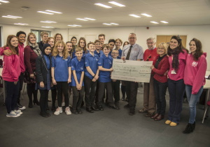 Blue Skies Year 1 group with BRAA cheque