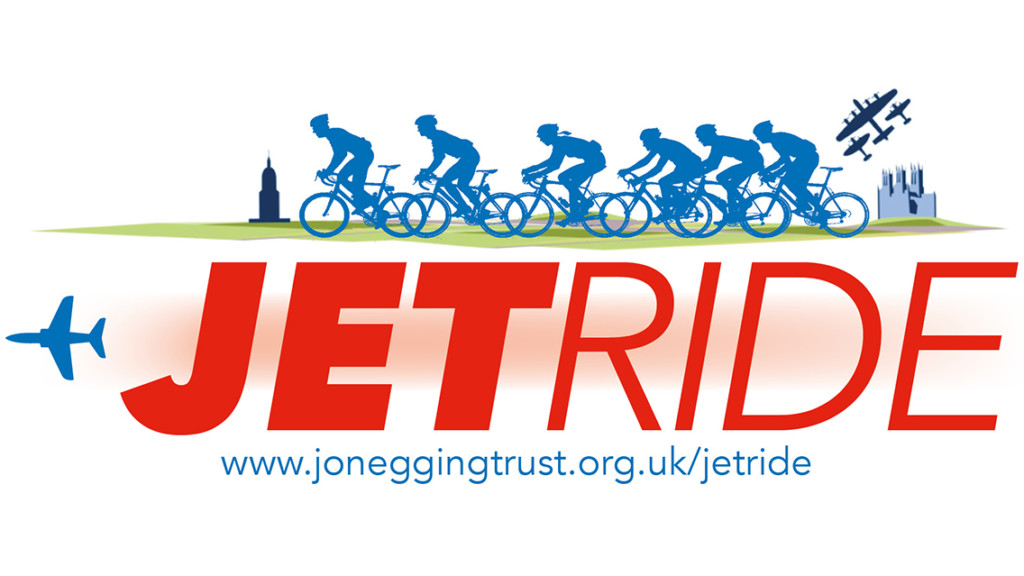 Jetride banner with 6 cyclists