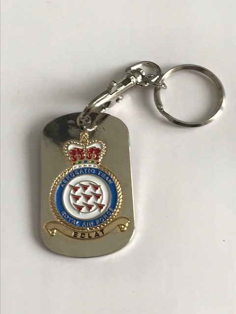 Red Arrows metal crest keyring