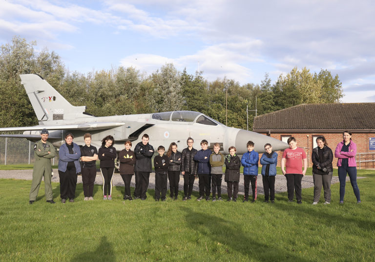 RAF Leeming inspires new Blue Skies students from Northallerton School and Sixth Form